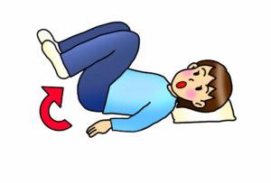 反り腰の方に避けて頂きたい運動、足上げ腹筋